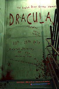 "Der Gruselklassiker ""Dracula"" ist an sechs Abenden im Hörsaal 7 der Universität zu sehen."