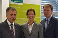 Prof. Dr.-Ing. Gerhard Sagerer, Prof. Dr. Christina Hoon und Prof. Dr. Fred G. Becker (v.l.). Foto: Universität Bielefeld