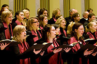 """Der Universitätschor wird Johannes Brahms' """"Ein deutsches Requiem"""" präsentieren. Foto: Nico Ackermeier"""