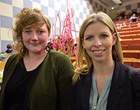 Claudia Huerkamp-Preis für Agnes Piekacz und Kirstin Grabbe (v.l.). Foto Universität Bielefeld