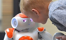 Researchers at Bielefeld University plan to use the humanoid robot 'Nao' for language training