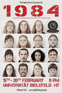 """Die English Drama Group der Universität Bielefeld präsentiert eine Bühnenfassung von Georg Orwels """"1984"""". Foto: Thomas Handke"""