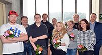 Ausbilder sowie Mitglieder von Personalrat und Jugend-Auszubildenden-Vertretung feierten gemeinsam mit den Auszubildenden: Jan-Ulrich Klamert, Jens Warmesbach, Jens Bögeholz, Thomas Schafft, Ulf Maskalans, Nele Janski, Heike Trummel, Siegfried Berger, Dr. Sabine Schrader und Alexander Steinhäuser (v.l.).