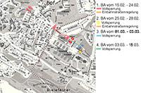 Plan der Straßensperrung