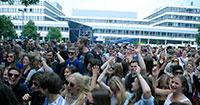 Im vergangenen Jahr war das Campus Festival restlos ausverkauft. Foto: Universität Bielefeld