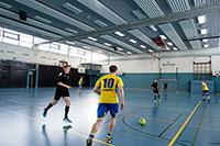 In der neuen Methode helfen Fotos von Spielsituationen, Taktiken – hier ein Konter – mental einzuüben. Foto: CITEC/Universität Bielefeld