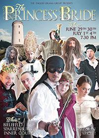 """Ehemalige Mitglieder der English Drama Group führen anlässlich des 40. Geburtstags """"The Princess Bride"""" an der Sparrenburg auf. Foto: Thomas Handke"""