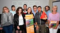Jurymitglieder und Organisatoren freuen sich auf die Vorstellung im Cinemaxx (v.l.): Dr. Renate Möller, Xue Guo(Yuki), Marianna Gershkovich, Bilsel Kiratli, Annalena Witthus, Philip Karsch, Fabio Magnifico, Eric Franzen und Dr. Petra Pansegrau.