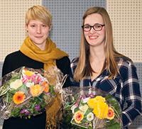 Die Preisträgerinnen Stella Pölkemann (l.) und Janine Potthast. Foto Universität Bielefeld