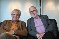 Die Professoren Dr. Martin Diewald (links) und Dr. Rainer Riemann leiten die Forschungsgruppe zum Thema Lebenschancen. Foto: Universität Bielefeld/ N. Junghof