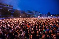 Beim Campus Festival Bielefeld feierten 2016 rund 18.500 Besucher.Foto: Patrick Piecha