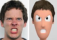 Egal ob Mensch oder Kunstfigur: Wenn der Charakter Emotionen zeigt, reagiert das Gehirn intensiv auf ihn. Foto: CITEC/Universität Bielefeld