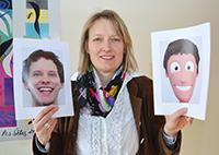 CITEC-Forscherin Prof. Dr. Johanna Kißler belegt in der Studie, dass Menschen kurzfristig emo-tionale Beziehungen zu Comicfiguren empfinden können. Foto: CITEC/Universität Bielefeld