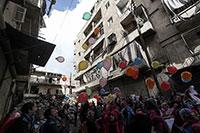 Alltag im Krieg: Hosam Katans Bilder zeigen den Bürgerkrieg in der syrischen Stadt Aleppo in den verschiedensten Facetten.