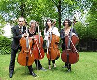 Das Ensemble Celloquenz mit (v.l.): Sigurd Müller, Kristin Hirschauer, Monica von Bülow und Olga Minskaya.
