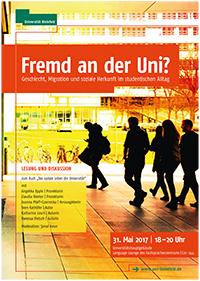 "Plakat ""Fremd an der Uni"". Foto: Universität Bielefeld"