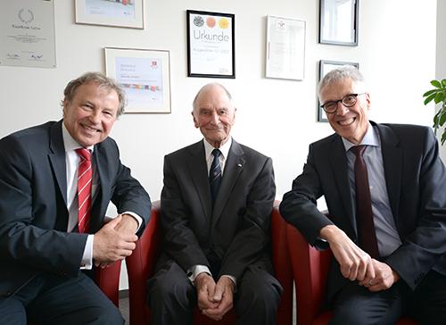 Kanzlertreffen: Hans-Jürgen Simm, Eberhard Firnhaber und Stephan Becker (v.l.)