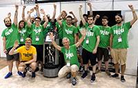 Das erfolgreiche Team of Bielefeld beim RoboCup 2017.