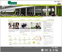 """Der Newsroom übernimmt die Position des Icons """"Hausnachrichten"""" auf der Homepage der Universität im Servicebereich."""