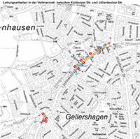 Aufgrund von Leitungsarbeiten wird die Voltmannstraße streckenweise zur Einbahnstraße. Foto: Stadt Bielefeld