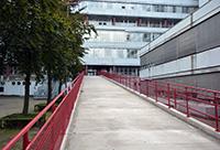 Der Bauherr BLB hat die Sanierung der Rampen abgeschlossen.