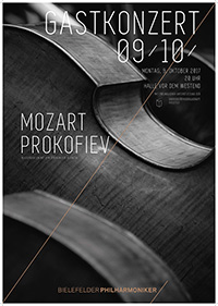Konzert-Plakat des Philharmonischen Orchesters.