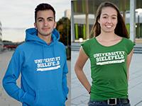 Die KontaktStube bietet Hoodies, T-Shirts und mehr an. Foto: Universität Bielefeld