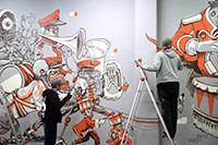 »Marching Band« nennt sich dieses Werk nach einer Skizze des Künstlers »Rookie«.