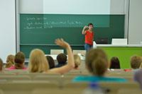 Der BI.teach – Tag für die Lehre bietet Vorträge, Diskussionen und Foren über Ideen für die Lehre. Foto: Universität Bielefeld