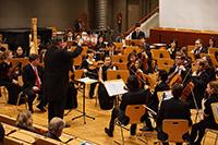 """Das Detmolder Orchester spielt Schuberts großer Liederzyklus """"Winterreise"""". Foto: Universität Bielefeld"""