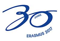 Das offizielle Logo des europäischen Erasmusprogramms zum 30. Geburtstag. Foto: Deutscher Akademischer Austauschdienst (DAAD)