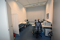 In den ehemaligen Räumen der des Gesundheitslabors ist jetzt der Betriebsärtzliche Dienst zu finden.