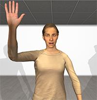 Die virtuellen Avatare sind komplett animierbar, wie Charaktere aus Computerspielen, spiegeln aber die echte Person realistisch wider. Foto: CITEC/Universität Bielefeld