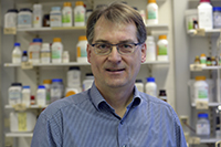 The biochemist Prof. Dr. Thomas Dierks is carrying out research on hereditary disorders and treatment concepts with a particular focus on defective enzymes and their replacement. 