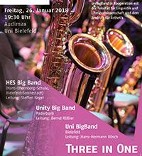 Das Plakat des Semesterabschlusskonzerts der UniBigband.