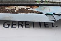"""Die Ausstellung """"Mein Motiv ist meine Gegenwart. Ralf Theniors Wortwelten, Bielefelder Sprachfunde"""" wurde von Studierenden der Universität Bielefeld gestaltet. Foto: Dirk Bogdanski"""