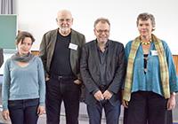 Die Leiterinnen und Leiter der Tagung: Tatjana Thelen, David Warren Sabean, Simon Teuscher, Erdmute (v. l.): Foto: Alexandra Polina