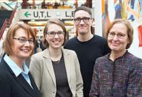 Leiten das Projekt BiFoKi: Prof.'in Dr. Birgit Lütje-Klose, Dr. Julia Gorges, Phillip Neumann und Prof.'in Dr. Elke Wild. Foto: Universität Bielefeld