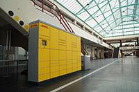 Neu in der Uni-Halle: Eine von zwei Packstationen