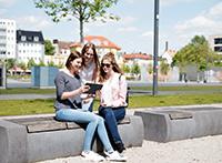 Auch auf dem Kesselbrink sind die WLAN-Hotspots BI-freeund Eduroam verfügbar. Foto: Sandra Döpel