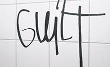 Schriftzug Schuld