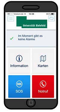 """Die Krisen- und Notfall-App """"Evalarm"""""""