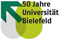 Jubiläumslogo der Universität Bielefeld