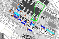 Entlang der Morgenbreede/Konsequenz sollen mehrere Gebäude für die neue Medizinische Fakultät errichtet werden.