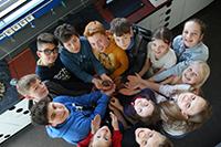 """Die """"Kolumbus-Kids"""" schicken einen Wetterballon in die Stratosphäre. Foto: Universität Bielefeld"""