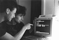 Rena Tangens und ihr Partner padeluun, 1989. Foto: privat