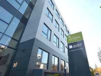 Das ICB an der Morgenbreede beherbergt aktuell die Medizinische Fakultät OWL in Gründung. Foto: Universität Bielefeld