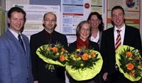 Prof. Dr. Wolfgang Greiner, Frank Schneider, Dr. med. Johanna Merkel, Dr. Martina Niemeyer und Markus Stubbe (v.l.)