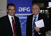 Rektor Professor Dr. Gerhard Sagerer und DFG-Präsident Professor Dr.-Ing. Matthias Kleiner