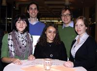 Science Fair-Preisträger: Lilly Nagel, Idir Yatiatene, Maha Salem,  Fabian Schulte und Johanna Katharina Brinkel (v.l.)